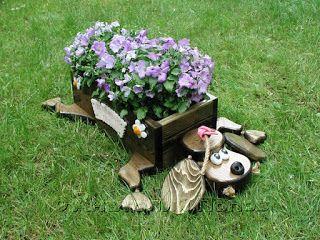Cantinho craft da Nana: Decoração de jardim