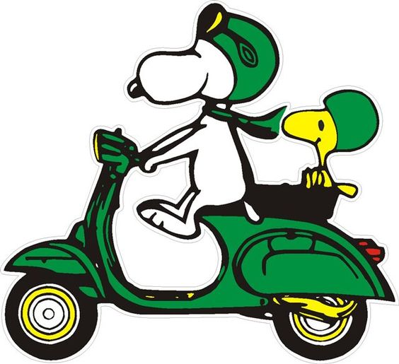 vespa scooter cartoon | aufkleber snoopy auf vespa gruen 3 90 eur vespa teile inkl 19 % ust ...
