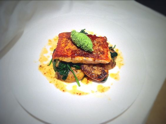 Parmesan Crusted Salmon, Coconut Chutney and Lime Emulsion - Fine Dining Recipes | Food Blog | Restaurant Reviews | Fine Dining At Home
