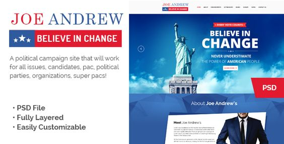 WPPoliticalz - Election Campaign Political WordPress Theme - political brochure