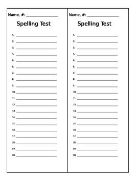 free printable spelling test template - pinterest the world s catalog of ideas