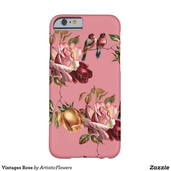 Vintages Rose Barely There iPhone 6 Case