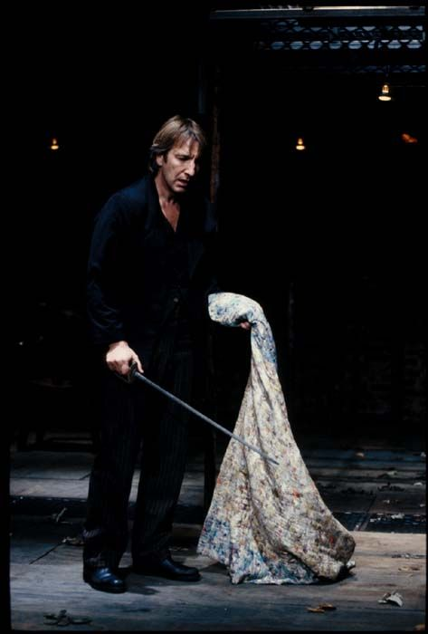 Alan Rickman as Hamlet onstage. I wish I could've seen this. Hamlet is my favourite Shakespeare play: