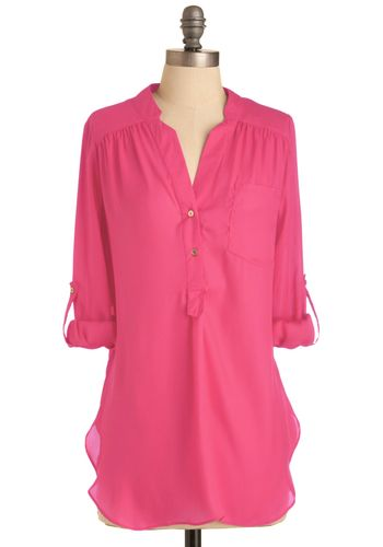 Pam Breeze-ly Tunic in Hot Pink
