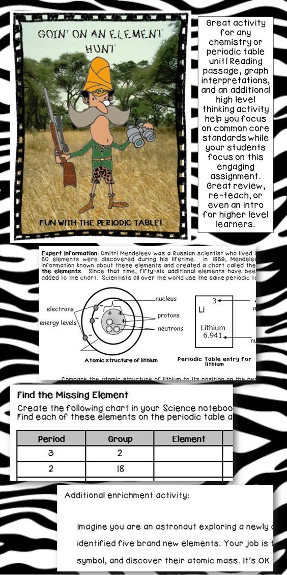 Periodic table elements lesson worksheet atomic mass 6th 7th 8th - new periodic table energy level electrons