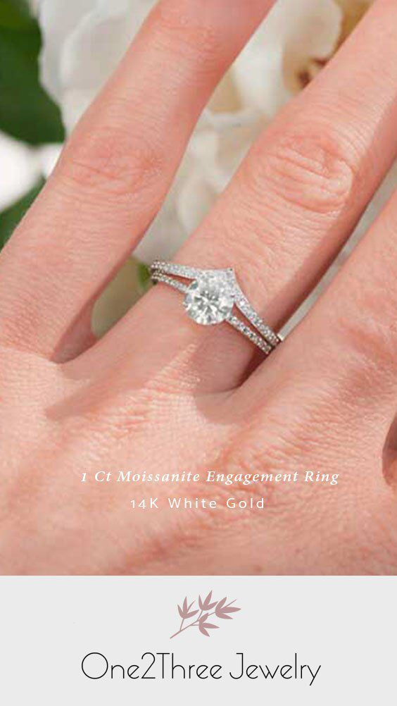 Moissanite Engagement Ring One2threejewelry In 2020 Wedding Accessories Jewelry Moissanite Engagement Ring Halo Engagement Rings Affordable