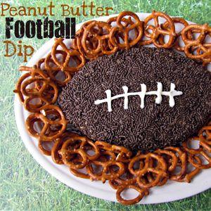 Super Bowl recipes: Peanut Butter Football Dip #recipe