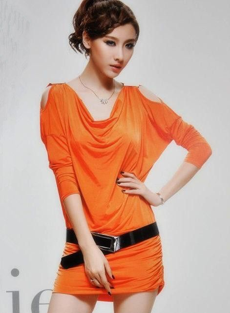 New Stylish Designer&-39-s Short Dress - Orange dress- Colors and Skirts