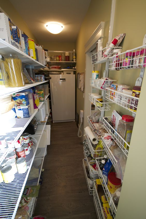Freezers walk in pantry and pantry on pinterest for Large walk in pantry