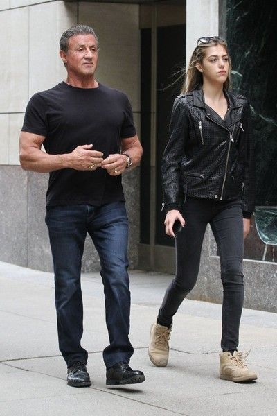 Sistine Stallone Photos Photos Sylvester Stallone And His Daughter Sistine Step Out In New York Sylvester Stallone Kids Sylvester Stallone Sylvester