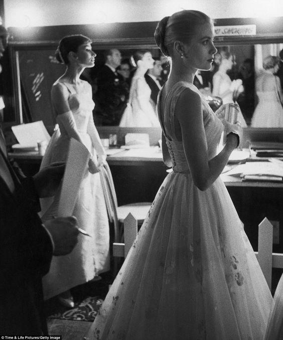 Audrey Hepburn and Grace Kelly Academy Awards Timeless Beauty