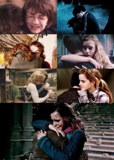Hermione & Harry hugs ♥️