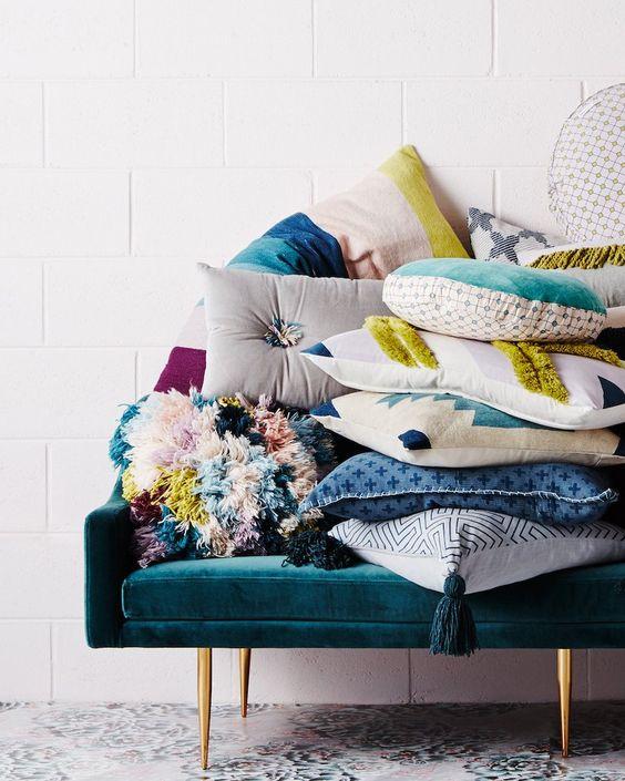 Multicolour Shaggy Wool Cushion