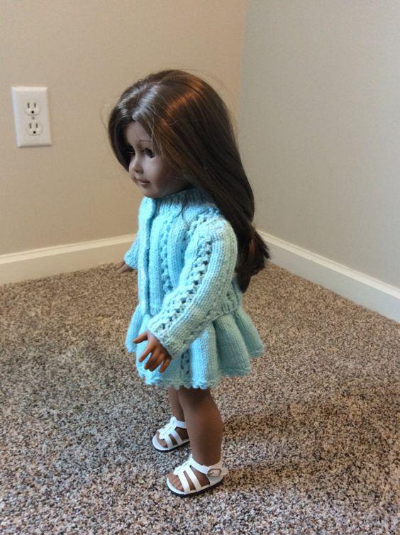Aqua Skirt and Sweater Set von StitchesbyMarlene auf Etsy