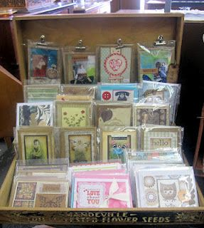 close up of cards in seed box