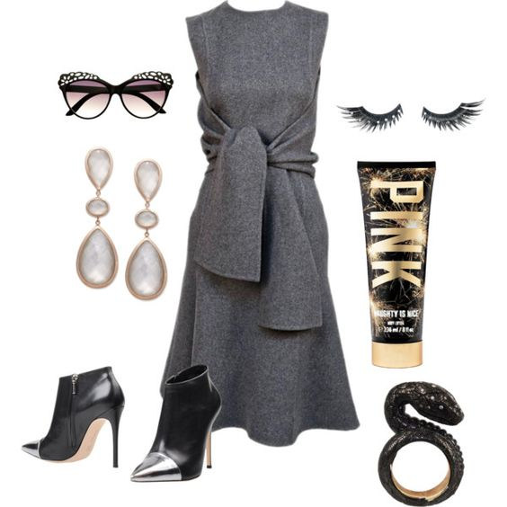 The snake is here ... by awewa on Polyvore featuring Gianvito Rossi, Retrò and Napoleon Perdis