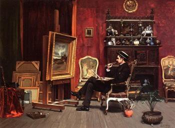 Ella G. Wise. Milne Ramsey in His Studio - Ella G. Wise, 1887.: