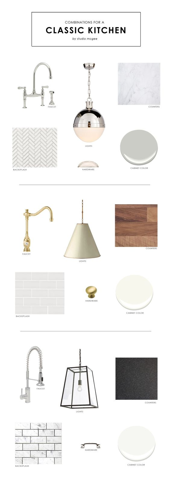 Our Favorite Combinations for a Classic Kitchen    Studio McGee
