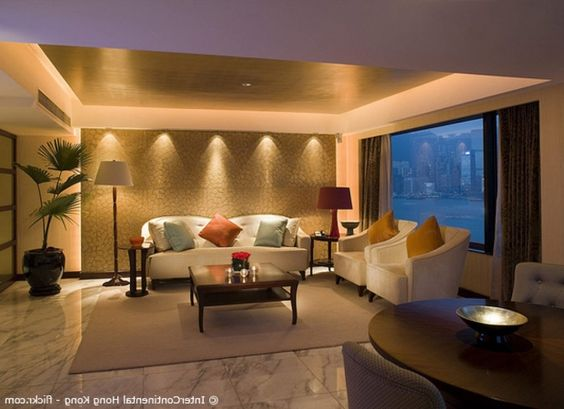 abgehangte decke mit beleuchtung beleuchtung bewusst verwenden - led deckenbeleuchtung wohnzimmer