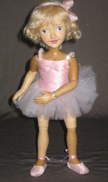 Tina Pink Ballerina 12  Wood