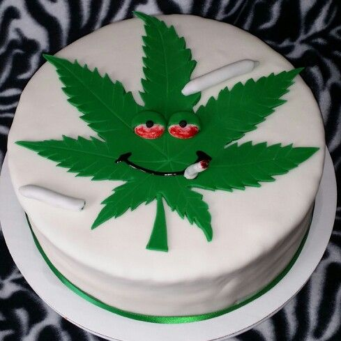 Cannabis Cake Decorations