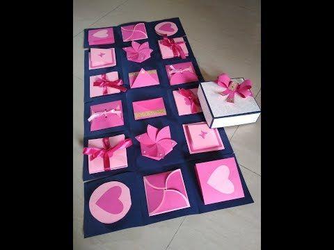 Infinity Explosion Box By Sheetal Khajure Arty Hearty Youtube Diy Exploding Box Exploding Box Card Exploding Gift Box