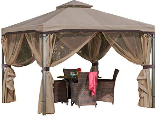 New Christopher Knight Home Sonoma Canopy Gazebo 10 X 10 Feet Soft Top Garden Tent With Mosquito Netting And Shade Curt In 2020 Gazebo Gazebo Canopy Pergola With Roof