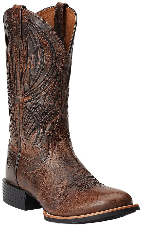 Ariat® Quantum Pro Men's Weathered Chestnut Round Toe Western Boots