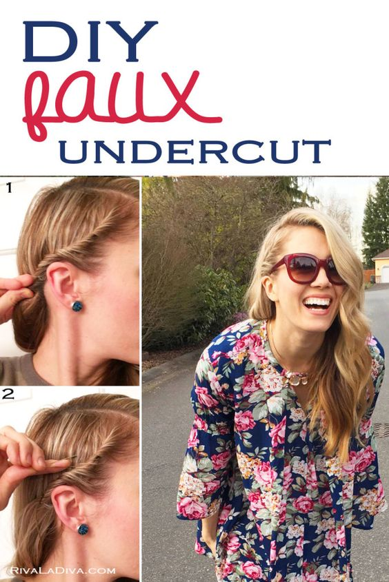 DIY The Faux Side Undercut with The Perfect Spring Tunic
