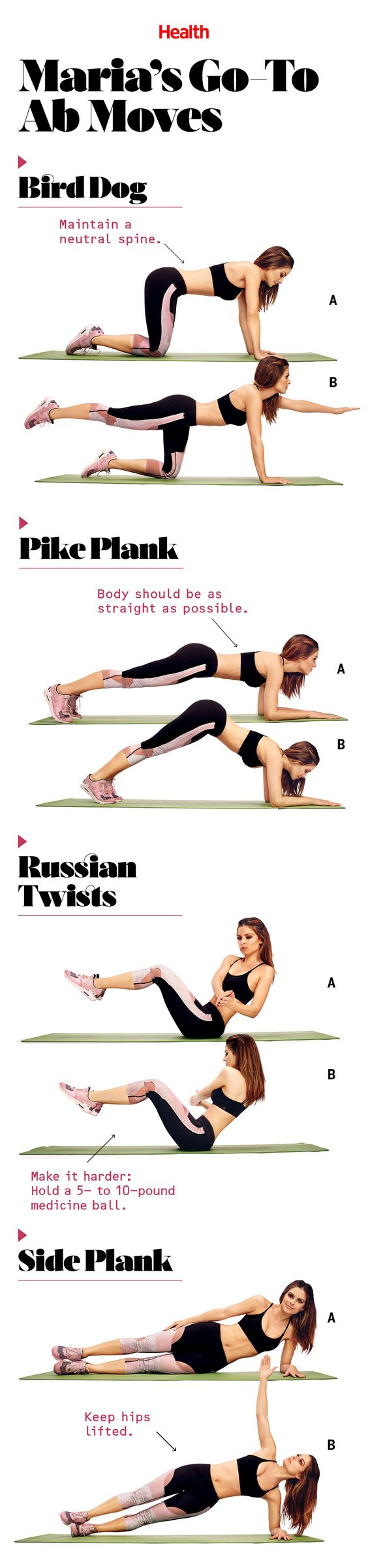 These Are the Ab Moves Maria Menounos Swears By: Maria's trainer shares her stress-crushing daily workout for a toned stomach. | Health.com