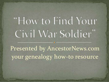 How to find your civil war ancestor