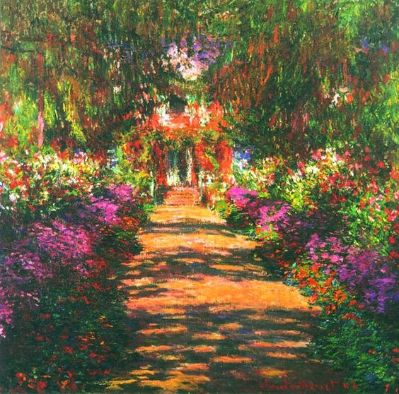Дорожка через сад
