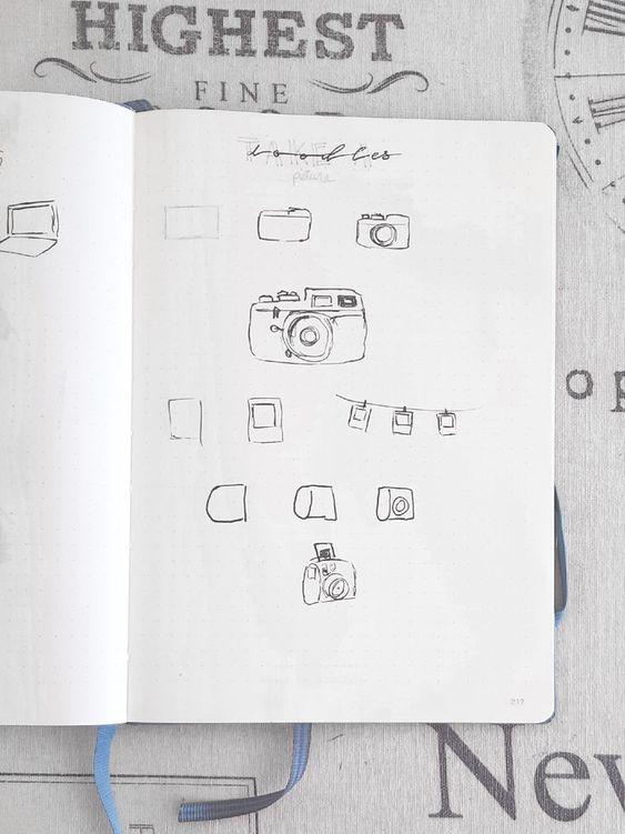 10 dessins faciles à reproduire dans  votre Bullet Journal