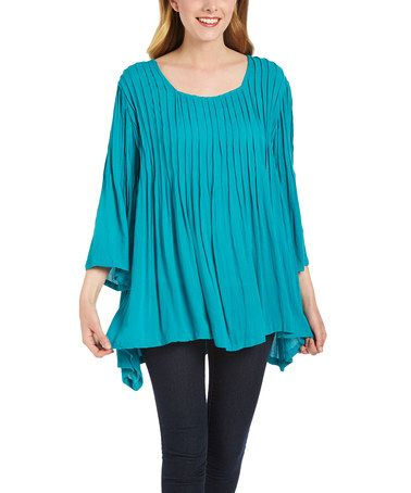 Another great find on #zulily! Jade Bell-Sleeve Scoop Neck Tunic #zulilyfinds