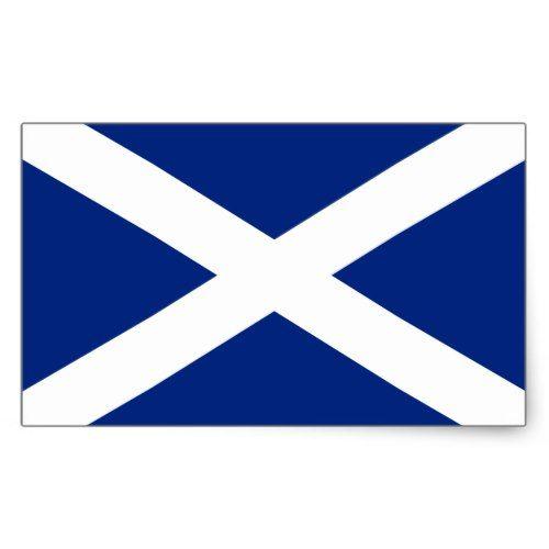 Scotland Rectangular Sticker Zazzle Com St Andrews Cross Flag Of Scotland Scotland