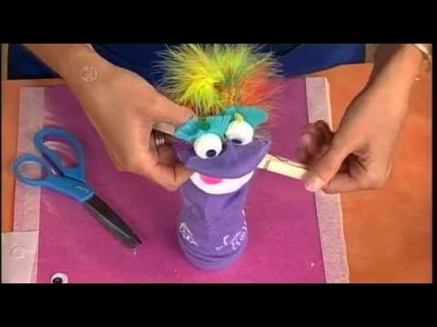 how to make a sock puppet with arms