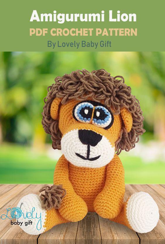 realistic crochet lion | Son's Popkes | 833x564