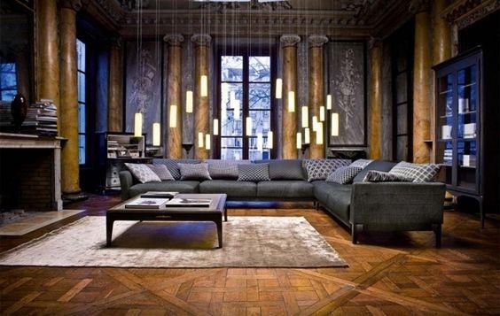Elegant wohnzimmer  Elegant Wohnzimmer - Erstaunlich Layout und Dekoration | Interieur ...