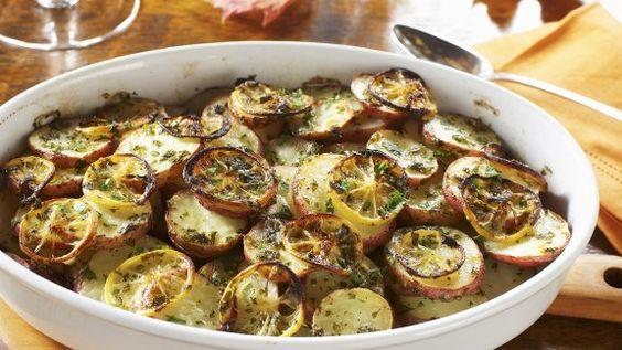Rezept: Zitronen-Kartoffel-Gratin
