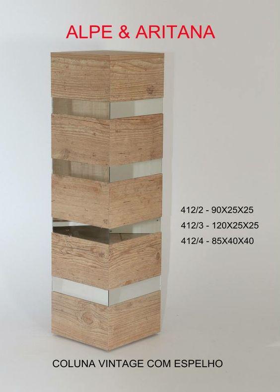 Coluna de MDF com espelho. Acesse nosso site: www.alpearitana.com.br ou fale conosco: marketing@alpearitana.com.br