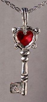 Crystal Key Pendant