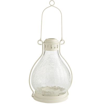 White Crackle Lantern - Large - Pier1 US