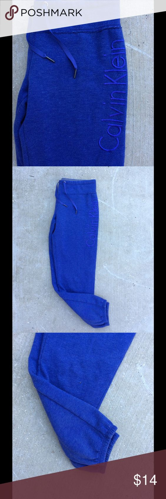 Calvin Klein Sweatpants Size Small Joggers Purple Calvin Klein jogger sweatpants size small. No imperfections or flaws. Immaculate condition Calvin Klein Pants Track Pants & Joggers