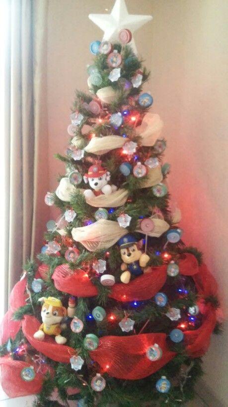 Quedo hermoso mi arbol paw patrol christmas tree navidad - Arbol de navidad decorado ...