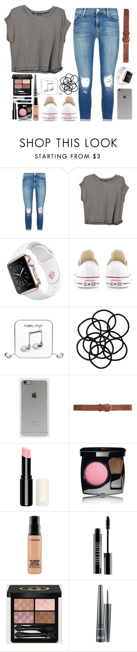 """""""Is it to late now to say sorry..."""" by caro3302 ❤ liked on Polyvore featuring J Brand, Converse, Happy Plugs, Monki, Incase, Dorothy Perkins, Chanel, MAC Cosmetics, Lord & Berry and Gucci"""