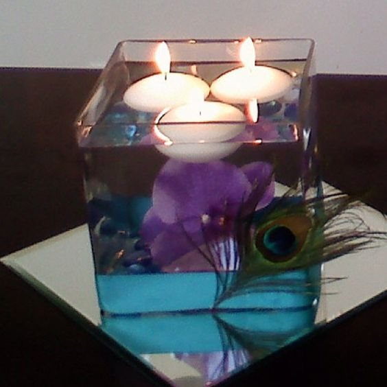 Easy Floating Candle Centerpieces: Centerpieces - With Native Flowers Instead?