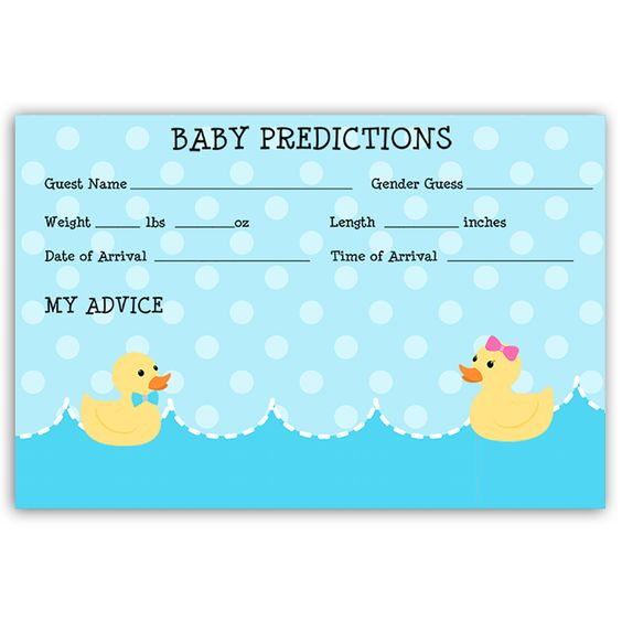 Waddle It Be Gender Reveal Predictions Card