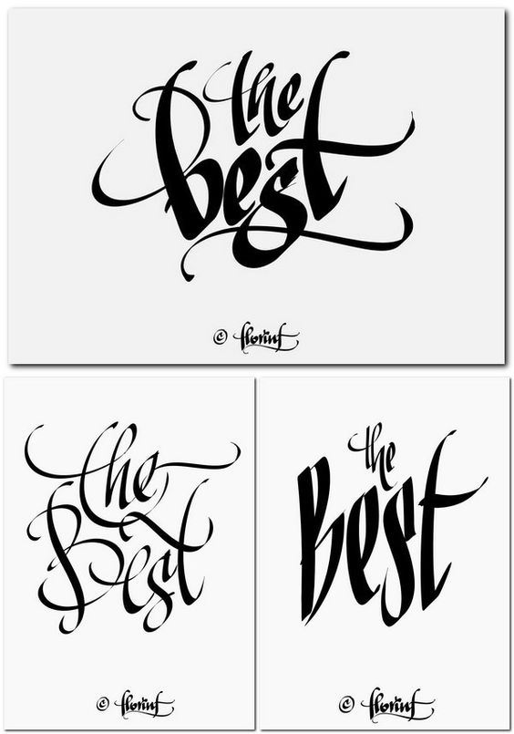 Digital Calligraphy By Florin Florea Type It