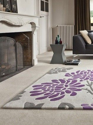 Tapis contemporain beige et rose ophelie saint maclou meubles pinterest roses et saints Beaux tapis contemporains