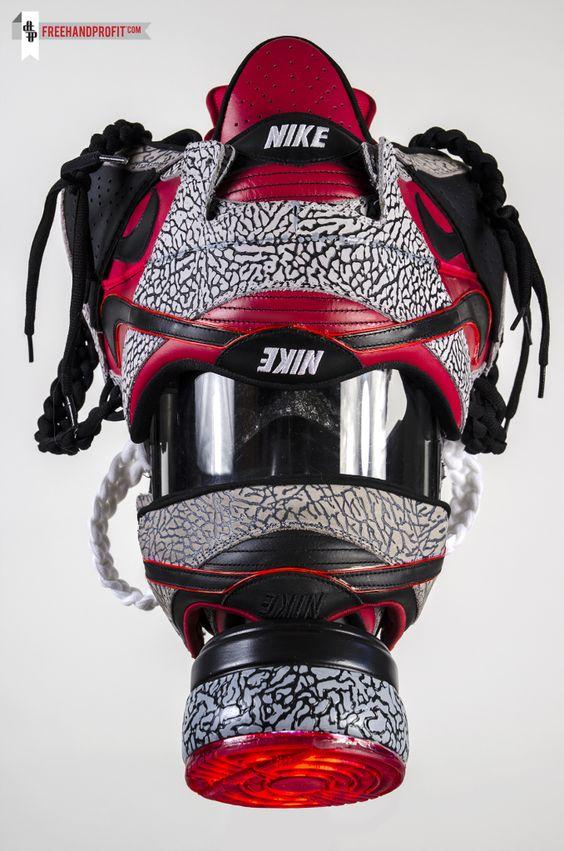 nike air max 24 7 bleu - Nike SB x Supreme Dunk Gas Mask Custom tailored. Hand made ...